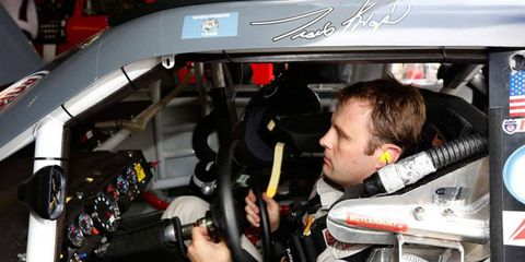 Travis Kvapil checked in with a fast lap of 200.452 mph in practice at Talladega on Friday.