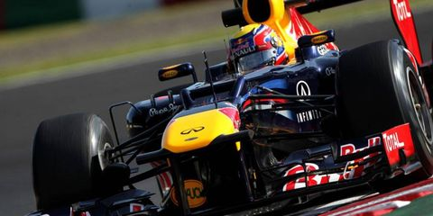 Mark Webber was quickest in practice on Friday in Japan. Qualifying for the F1 race is Saturday.