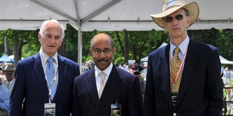 Retired GM design chief Chuck Jordan, current design chief Ed Welburn and retired design chief Wayne Cherry attended the Concours d'Elegance of America at Meadow Brook in suburban Detroit this summer.