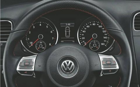 The 2012 Volkswagen GTI Autobahn is powered by a 2.0-liter turbocharged TSI engine.