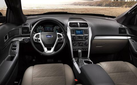 The 2013 Ford Explorer Limited  includes a leather wrapped steering wheel,  and many more luxurious interior highlights.