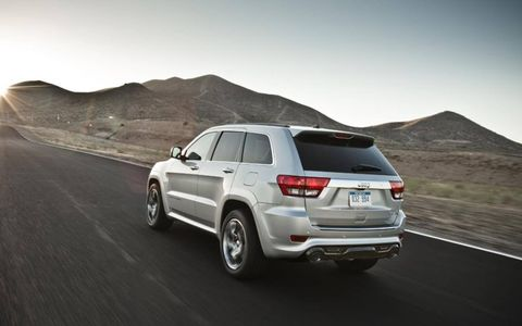 The 2013 Jeep Grand Cherokee SRT8 boasts a 4.8 second 0-60 time.