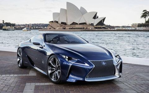 The Lexus LF-LC Blue, which debuted at the Australian motor show, builds off the LF-LC hybrid concept that emerged at the 2012 Detroit auto show.