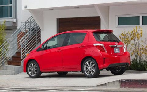 For a compact car, the Yaris SE has decent -- if not thrilling -- exterior styling.