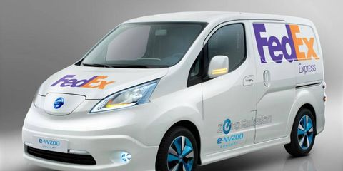 Delivery company FedEx has been testing an electric version of the Nissan NV200 minivan.
