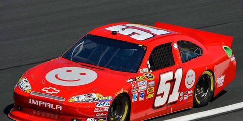 A.J. Allmendinger finished 24th for Phoenix Racing at Charlotte on Saturday night.