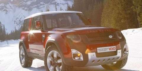 The DC100 concept is the basis of the new Land Rover Defender.