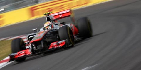 Lewis Hamilton, along with Mark Webber and Sebastian Vettel, spoke to the press Saturday about Korean qualifying.