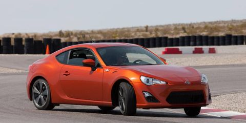 Fans will get to see the racing version of the Scion FR-S next year in the Pirelli World Challenge. Above is the production model.