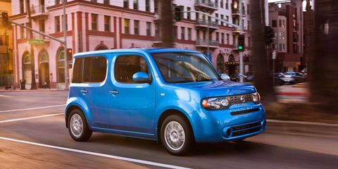 The 2012 Nissan Cube 1.8 S Indigo Limited Edition out for a drive.