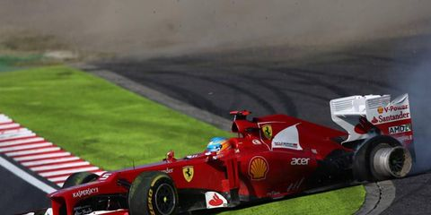 Fernando Alonso spins to retirement in Japan. Despite his recent woes, Alonso isn't changing anything.