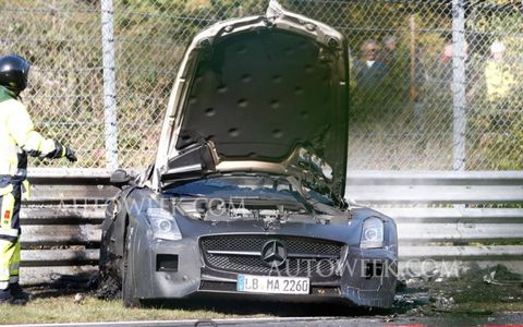 The 2014 SLS AMG Black Series will be powered by an  AMG 6.2-liter V8 making north of 600 horsepower.