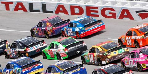 Drivers don't like the pack racing a Talladega and Daytona because they know the big wreck is always, it seems, right around the corner.