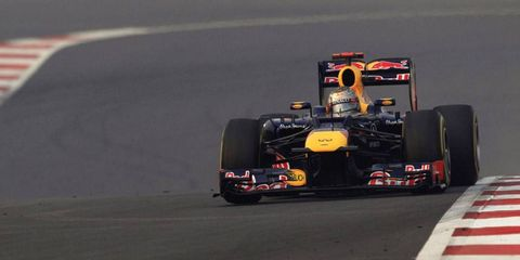 Sebastian Vettel won his fourth race in a row on Sunday, giving him a 13-point lead in the championship standings.