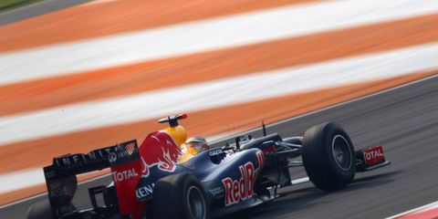 Sebastian Vettel won the pole in India, giving him a great shot to add to his string of wins.
