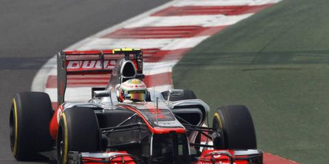 Lewis Hamilton qualified third on Saturday, and hopes to compete with the drivers from Red Bull.