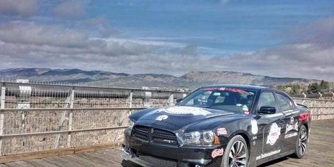 """Team Gamma's Dodge 2012 Charger SRT8, named """"Midnight Charger,"""" is one of 30 teams competing in the Autoweek America Adventure."""