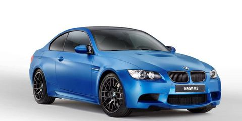 BMW will offer the M3 Frozen in red, white and blue.