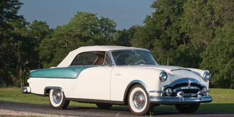 The auction's second most expensive sale was this 1954 Packard Caribbean convertible at $132,000.