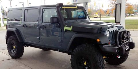 A stretched Wrangler chassis is the foundation for this concept JK Six-Pak to be unveiled at the upcoming SEMA show.