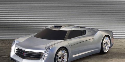GM showed the EcoJet concept at the 2006 SEMA show. The turbine-powered car used an aluminum chassis from the Corvette and magnesium structural parts.