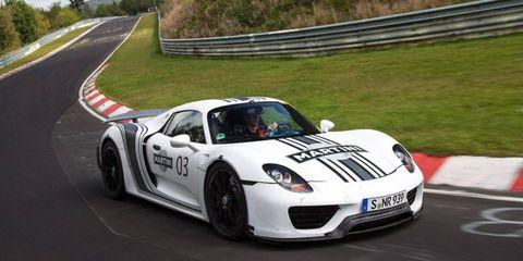 The Porsche 918 Spyder will have an output of 795 hp.