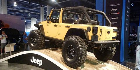 The Jeep Wrangler Sand Trooper was created from the Mopar parts bin.