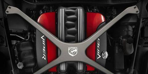 A carbon-fiber X-brace from Mopar for the 2013 SRT Viper carries a sticker price of $3,175.