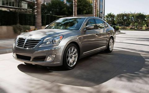 The 2012 Hyundai Equus Ultimate combines many of the styling and interior features of expensive competitors--for well under $70,000. If you squint, it even looks a bit like a Mercedes S-Class.