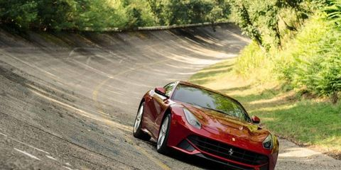 The Ferrari F12 Berlinetta has a 6.3-liter V12 making 731 hp.