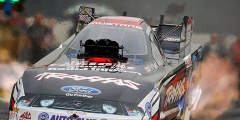 NHRA rookie Courtney Force was the top qualifier in the Funny Car class on Thursday in Pomona.