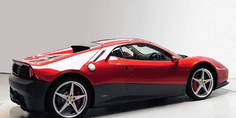 The Ferrari SP12 EC was designed for and by Eric Clapton, hence the EC.