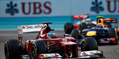 Fernando Alonso trails Sebastian Vettel by just 10 points with two races remaining.