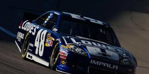 Points leader Jimmie Johnson will start Sunday's Sprint Cup Series race at Texas from the pole.