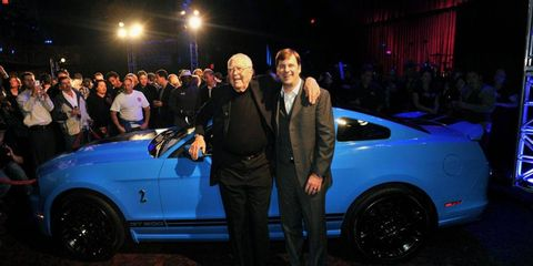 Jim Farley, who now runs Lincoln in addition to Ford's global marketing, stood with Carroll Shelby at the 2011 Los Angeles auto show.