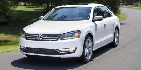 Nearly one in four Volkswagens sold in October was a diesel. A diesel Passat is shown.