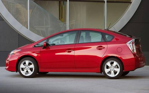 A hesitant drivetrain and uncomfortable regenerative brakes make driving the 2012 Toyota Prius Four a less-than-confident affair.
