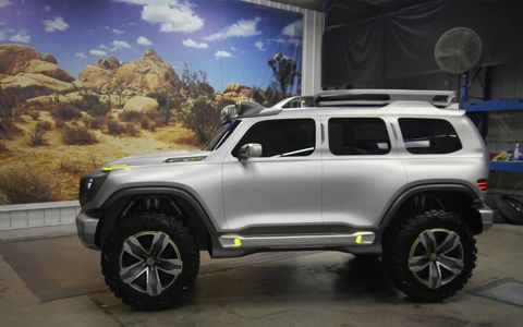 A side view of the Mercedes-Benz concept SUV for the Los Angeles auto show.