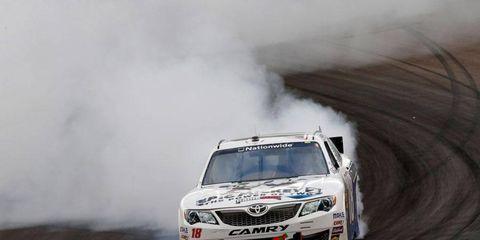 Joey Logano won the Nationwide Series race at Phoenix on Saturday.