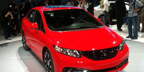 The 2013 Honda Civic debuted at the Los Angeles Auto Show.