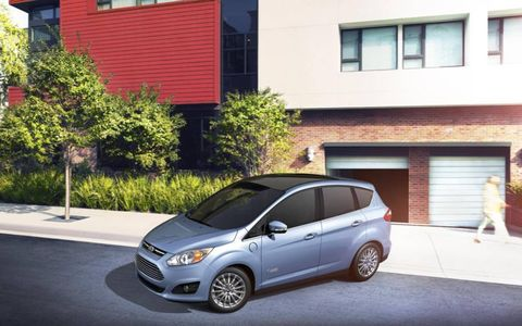 2013 Ford C-Max Energi can operate in battery-only mode.
