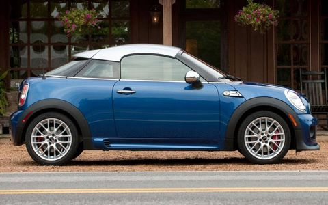 One editor compared the abbreviated roof of the 2012 Mini John Cooper Works Coupe to a backwards baseball cap.
