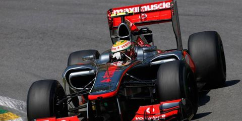 Lewis Hamilton was quickest in the first practice session at Brazil on Friday.