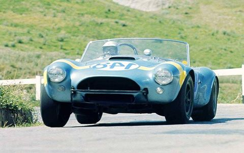 1964 Targa Florio 26th April 1964. Masten Gregory (USA) / Innes Ireland (GB), Shelby Cobra. Did not finish (Accident)