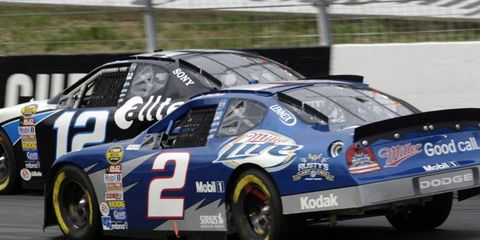 Rusty Wallace, driving the No. 2 car in 2003, chose not to go to Las Vegas to celebrate with Roger Penske and Brad Keselowski, but he said he still has a lot of respect for all involved with his old car.