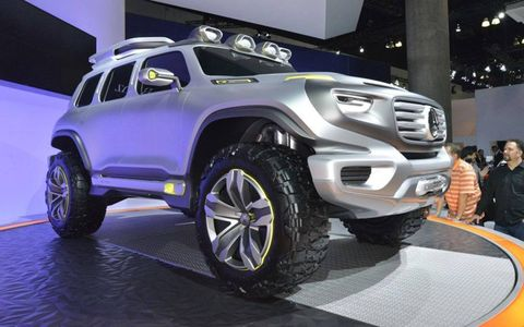 No production date was given for the Mercedes-Benz Ener-G-Force concept vehicle. Rather, the futuristic SUV is meant to preview what might come as the German automaker rethinks the iconic G-class.