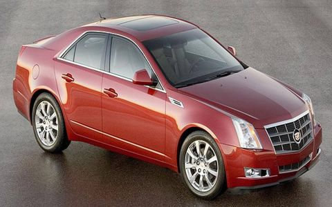 Cadillac CTS, a 2008 North American Car of the Year finalist.