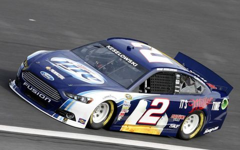 Keselowski got the chance to take his new car for a spin on Tuesday.