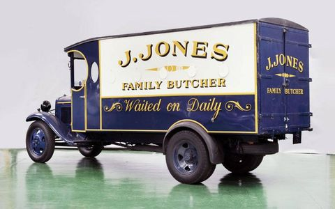This 1935 Ford BB Box Van was used in the British television comedy series Dad's Army. Collector interest boosted its final sale price to $102,000 at the December Bonhams auction.