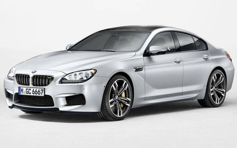The BMW M6 Gran Coupe combines turbocharged V8 power and a seven-speed dual-clutch transmission.